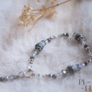 2/50$ bracelet natural grey jasper gemstones